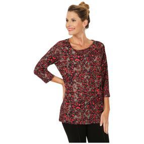 RÖSSLER SELECTION Damen-Shirt taupe/schwarz/pink