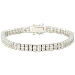 Tennis-Armband 925 Sterling Silber, Zirkonia