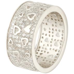 Ring 925 Sterling Silber Floating Hearts