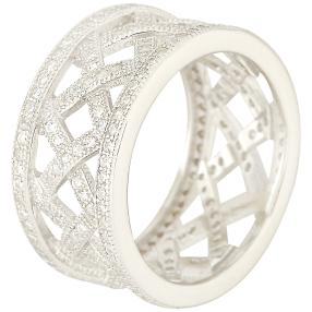 Ring 925 Sterling Silber Micropave