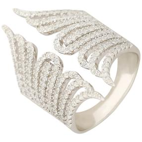 Ring 925 Sterling Silber Open Wing