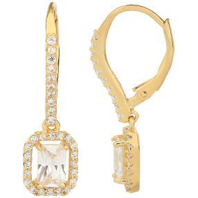Ohrhänger 925 St. Silber vergoldet Zirkonia