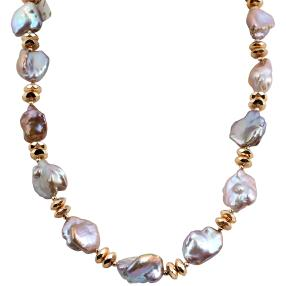 Collier 925 Perle+Hämatit