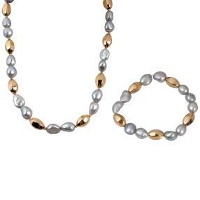 Set Kette+Armband Perle