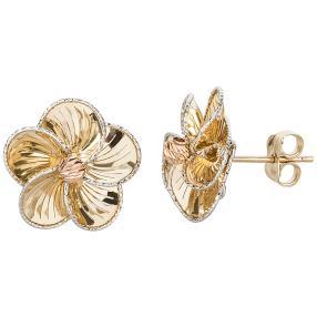 Blütenstecker 585 Gold
