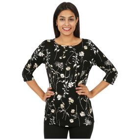 RÖSSLER SELECTION Damen-Shirt schwarz/natur