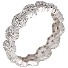 Ring 925 Silber rhodiniert Cluster Flower