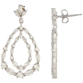 Ohrhänger 925 Sterling Silber Multistone