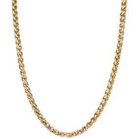 Zopfkette Edelstahl vergoldet, ca. 60 cm