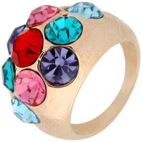 Ring rosé mit Swarovski Elements multi