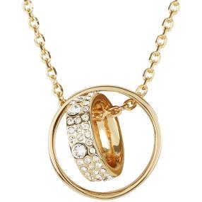 Kette Ring goldfarben mit Swarovski Elements