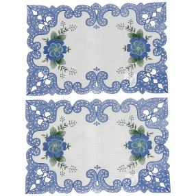 Tischaufleger Blumen 2er-Set 43x28cm
