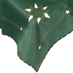 Mitteldecke Stern grün/gold, 85 x 85 cm