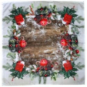 LED Mitteldecke Weihnachten, 85 x 85 cm