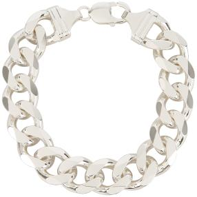 Panzer-Armband 925 Sterling Silber, ca. 80 g