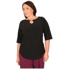 CANDY CURVES Shirt mit Schmuckelement schwarz