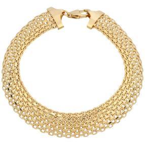 Bismarck-Armband 585 Gelbgold