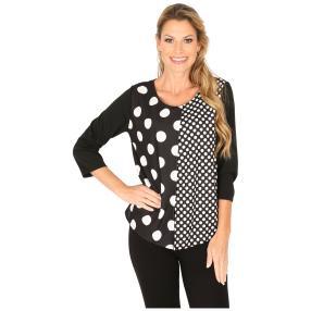 MILANO Design Shirt 'Delia' schwarz/weiß