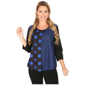 MILANO Design Shirt 'Delia' schwarz/blau