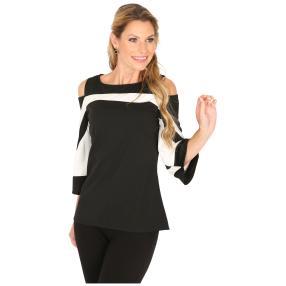 MILANO Design Shirt 'Debby' schwarz/weiß