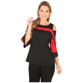 MILANO Design Shirt 'Debby' schwarz/rot