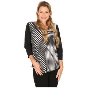 MILANO Design Shirt 'Denise' schwarz/weiß