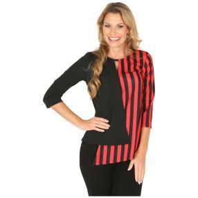 MILANO Design Shirt 'Davina' schwarz/rot