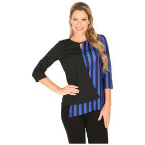 MILANO Design Shirt 'Davina' schwarz/blau