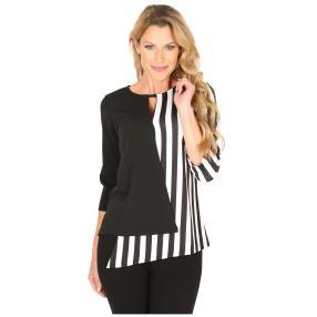 MILANO Design Shirt 'Davina' schwarz/weiß