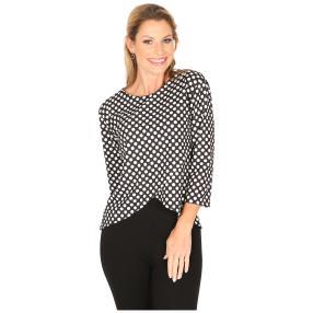 MILANO Design Shirt 'Darleen' schwarz/weiß