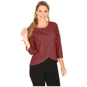 MILANO Design Shirt 'Darleen' schwarz/rot