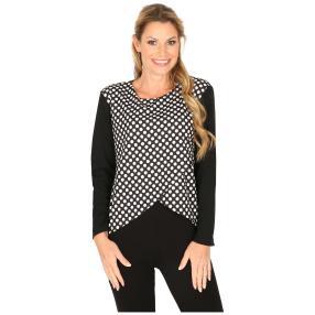 MILANO Design Shirt 'Dina' schwarz/weiß