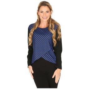 MILANO Design Shirt 'Dina' schwarz/blau