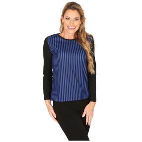 MILANO Design Shirt 'Daisy' schwarz/blau