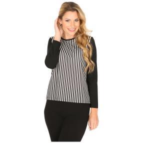 MILANO Design Shirt 'Daisy' schwarz/weiß