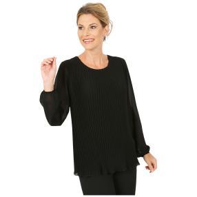 MILANO Design Plissee-Bluse 'Alcina' schwarz