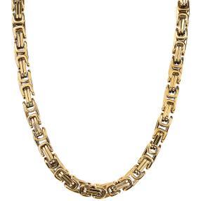 Königskette Edelstahl vergoldet ca. 60 cm