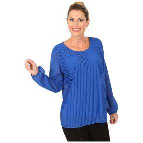 MILANO Design Plissee-Bluse 'Alcina' blau