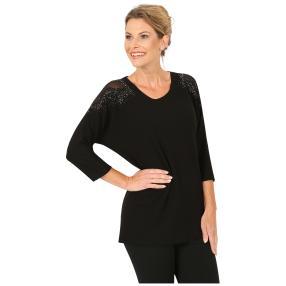 MILANO Design Shirt 'Amanda' verziert schwarz