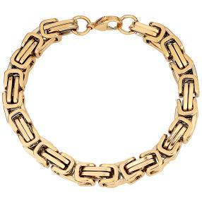 Königsarmband Edelstahl, vergoldet