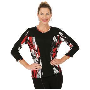 MILANO Design Shirt 'Norcia' schwarz/weiß/rot