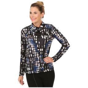 MILANO Design Shirt 'Spello' schwarz/weiß/blau