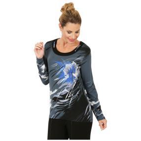 MILANO Design Shirt 'Piegaro' schwarz/blau