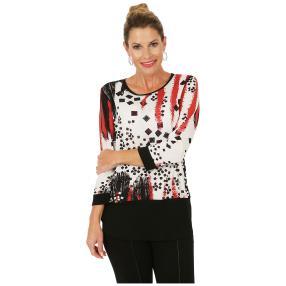 MILANO Design Shirt 'Fidenza' schwarz/weiß/rot