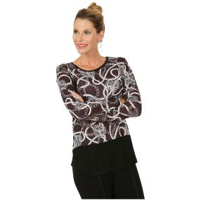 MILANO Design Shirt 'Vignola' schwarz/weiß