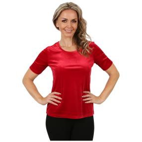 VIVACE  Samt-Shirt 'Sorrent' rot