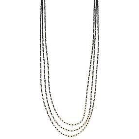 Collier Opal+Spinell 3reihig 925 Sterling Silber