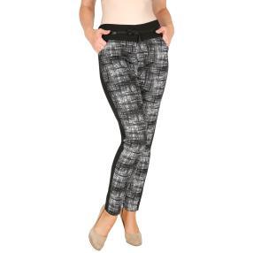 Damen-Hose 'Super Fit' mit Bambus schwarz/weiß