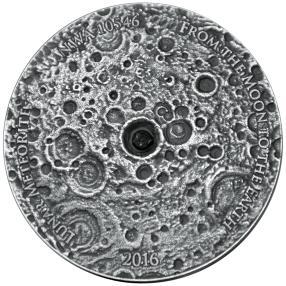 Silbermünze Mondmeteorit