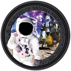 Silber-Münze 50 Jahre Mondlandung
